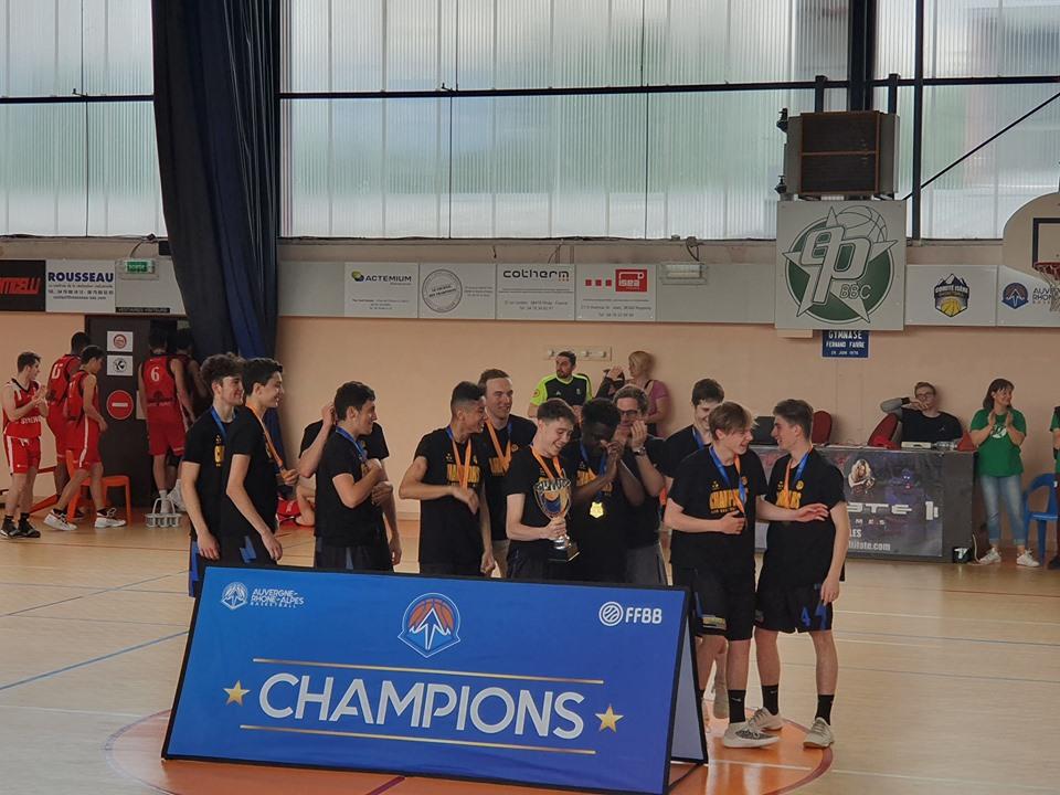 Bravo aux U17-2 CTC : champions AURA R3 2018-2019