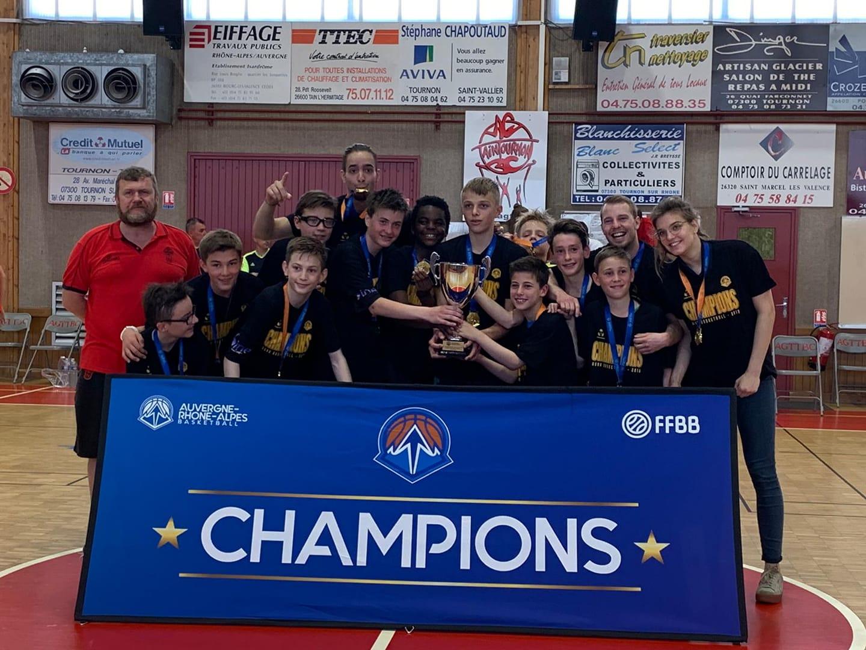 Les U13 CTC Champions AURA 2018-2019
