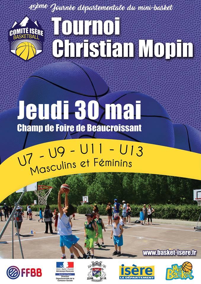45è tournoi Christian-Mopin à Beaucroissant : participation des U9, U11 et U13